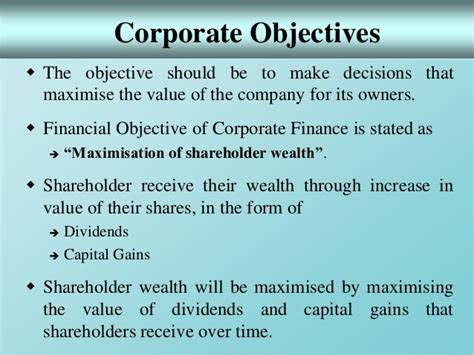 What Should Be In The Objective Of A Resume by 1 Introduction To Corporate Finance