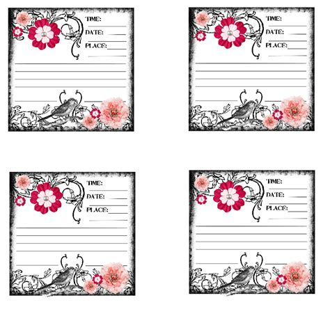 Journaling Cards Template by Sweetly Scrapped Free Vintage Feeling Journaling Card