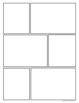 Free Download Comic Strip Template Pages For Creative Assignments Comic Template Maker