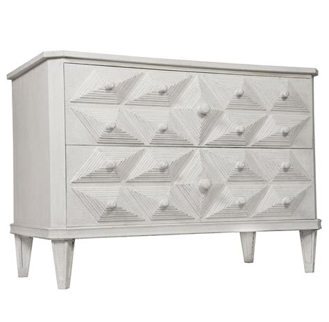 2 Drawer Dresser White Adee Global Bazaar Carved 2 Drawer White Dresser