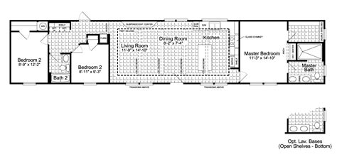 mobile home floor plans the santa fe ff16763g manufactured home floor plan or