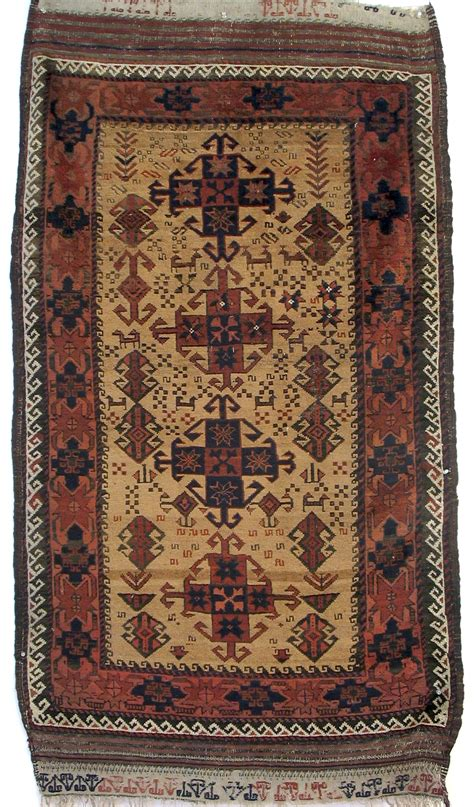 baluch rugs baluch rug with gurbaghe gul design