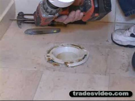 Replacing Broken PVC Toilet Flange Part One.flv   YouTube