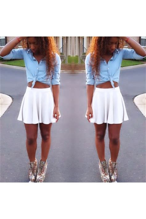 light blue shirt shirts beige skater style skirts quot the