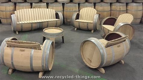 wine barrel couch upcycled furniture ideas recycled things