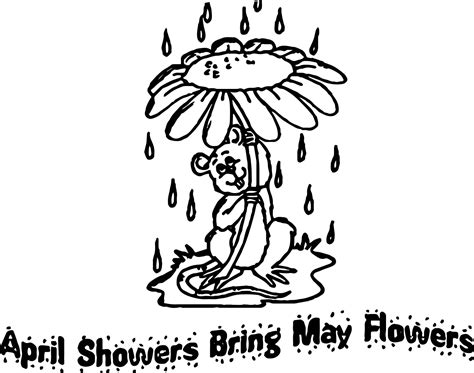 coloring pages of may flowers april showers bring may flowers coloring pages