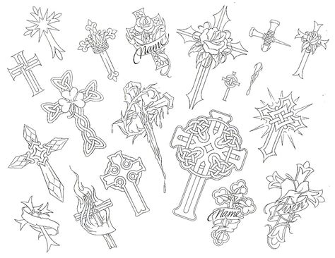 cross tattoo flash art outline05 jpg 171 unsorted 171 flash tatto sets 171 pictures
