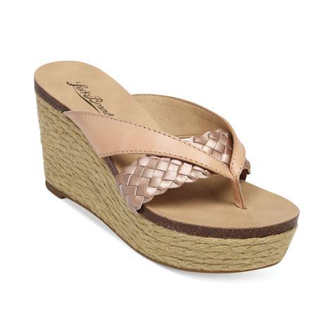 lucky brand womens norrah platform wedge sandals in