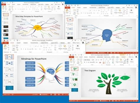 Concept Map Templates For Powerpoint Concept Presentation Template