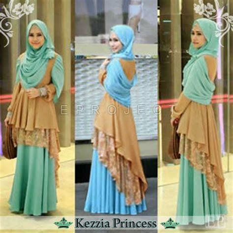 Princess Dress Brokat baju gamis kezzia princess layer brokat koleksi busana