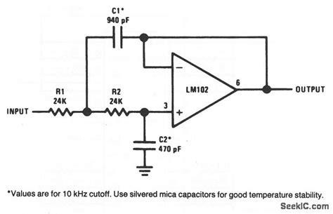 low pass filter circuits low pass active filter basic circuit circuit diagram seekic
