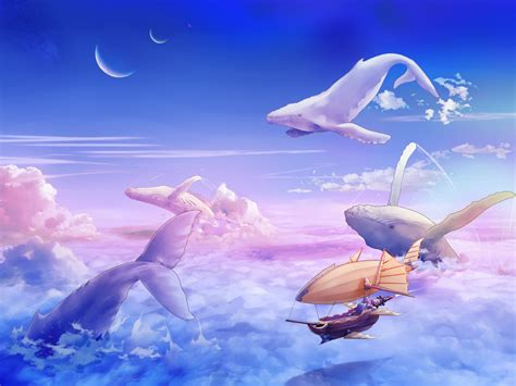wallpaper abyss steunk flying whales wallpaper the largest whale in the world