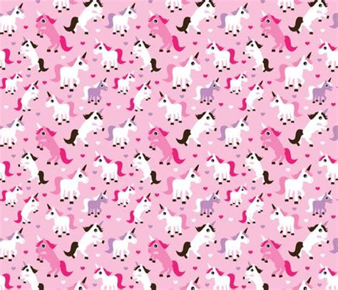 printable unicorn paper pink unicorn girl fabric fabric by littlesmilemakers on