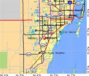 map of kendall florida miami dade county mapa kendall
