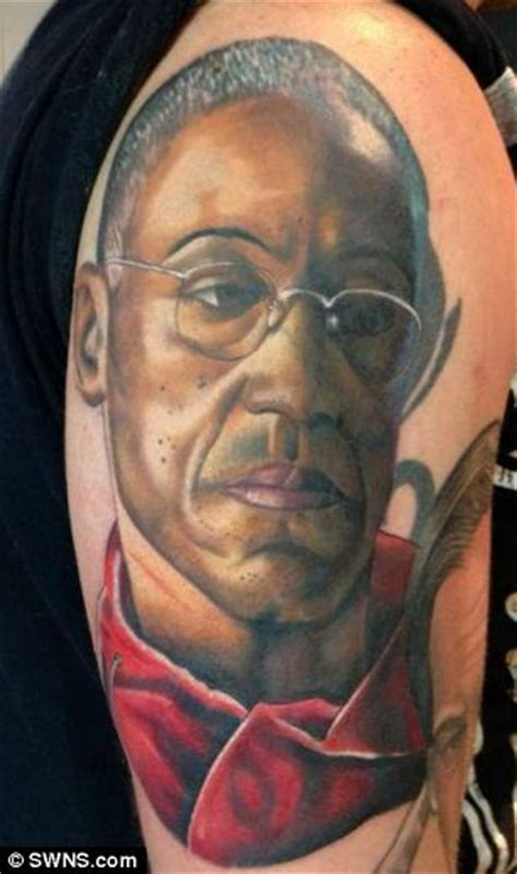 bad tribal tattoo breaking bad fanatic gets heisenberg and other characters