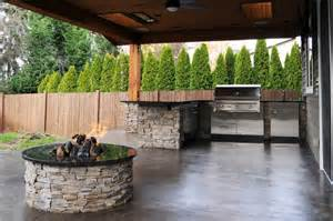 Luxury Craftsman Style Home Plans covered patio amp firepit