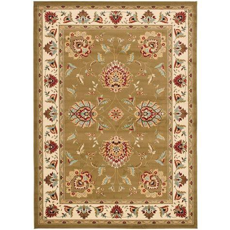 Safavieh Carpets Inc Safavieh Lyndhurst Green Ivory 8 Ft 9 In X 12 Ft Area