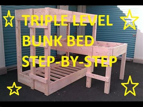 diy triple bunk beds triple level bunk beds diy youtube