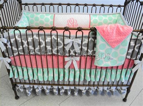 Coral And Grey Crib Bedding by 25 Best Ideas About Bedding On Navy Baby