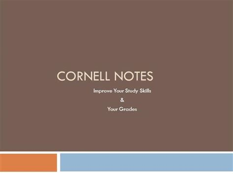 cornell powerpoint template cornell notes final authorstream