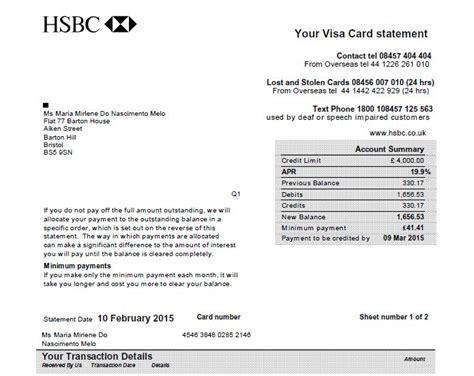 how bank make profit from credit card hsbc uk credit card statement
