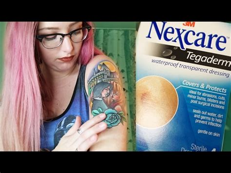 tattoo care after tegaderm nexcare tegaderm transparent dressing application and