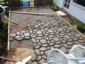Backyard Patios On A Budget by Form Patio Construction Concrete Patio Forms