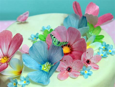 How To Make Edible Wafer Paper Flowers - edible wafer paper flowers felt