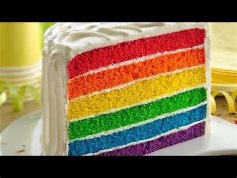 video tutorial membuat rainbow cake resep cara membuat rainbow cake kukus kue pelangi paling