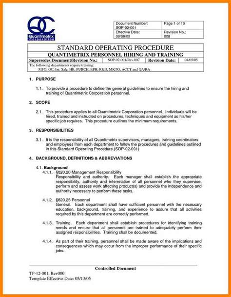 how to create a sop template 9 standard operating procedures template land scaping
