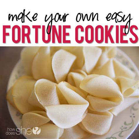 How To Make A Fortune Cookie Out Of Paper - make your own fortune cookies