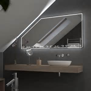 spiegel led beleuchtung spiegel f 252 r dachschr 228 mit led beleuchtung lora 989706551