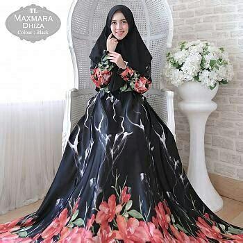 Gamis Monalisa Black Jumbo gamis maxmara jumbo dhiza baju muslim murah butik jingga