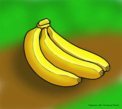 1 Sisir Pisang Ambon cara mudah mewarnai gambar buah pisang belajar