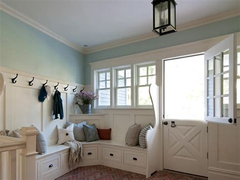 mudroom bench ideas create a family friendly mudroom drop zone hgtv