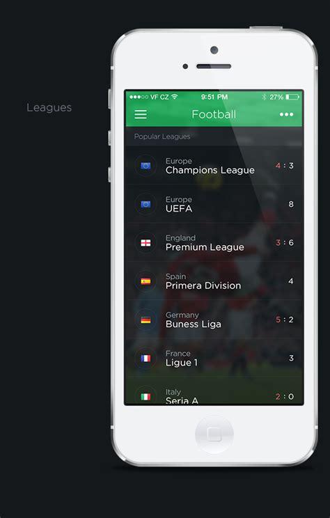 app design on behance livesport app concept on behance