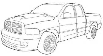 dodge truck coloring pages dodge truck coloring page pictures to pin on