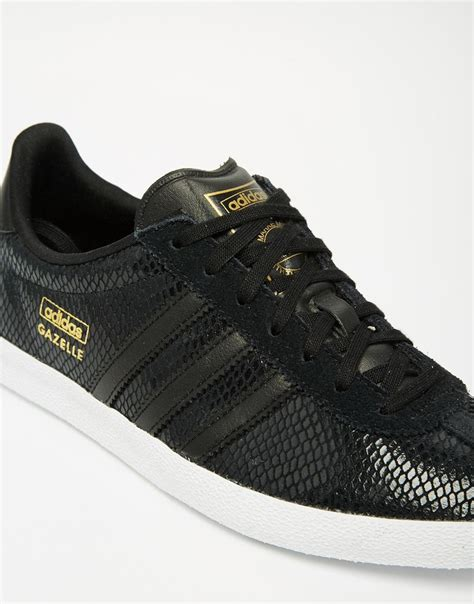 adidas originals gazelle all black sneakers in black for lyst