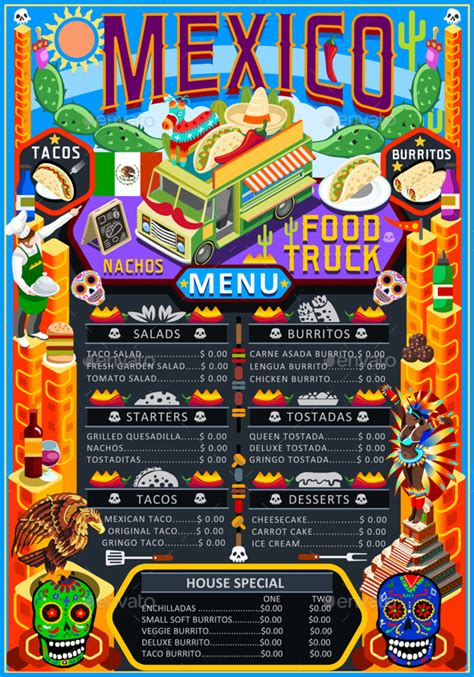 American Home Design Gallery by Food Truck Menu Street Food Mexican Festival Vector Poster