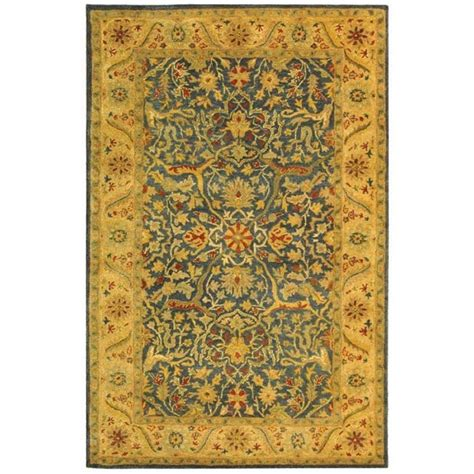 blue rugs 6 safavieh antiquity blue 6 ft x 9 ft area rug at14e 6 the home depot