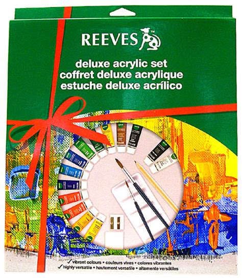 Terlaris Reeves Watercolor Paint Set 24 Pcs deluxe acrylic painting set by reeves national artcraft