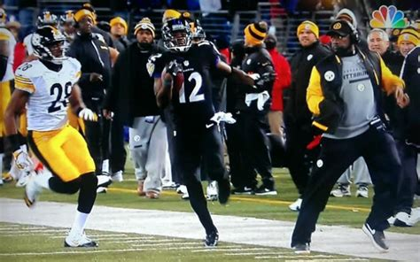 pittsburgh steelers coach trips player new angle of mike tomlin jacoby jones interference