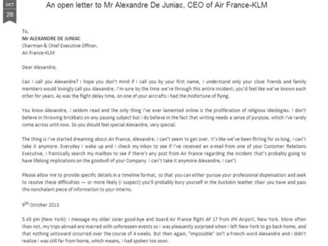 Sle Complaint Letter Bad Service Airlines Trending An Open Letter To Ceo Of Air Indiatimes
