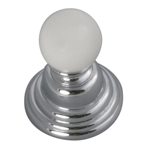 white and chrome cabinet knobs shop hickory hardware gaslight chrome with white globe