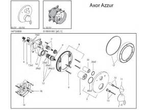 hansgrohe axor azzur shower valve spares shower spares and