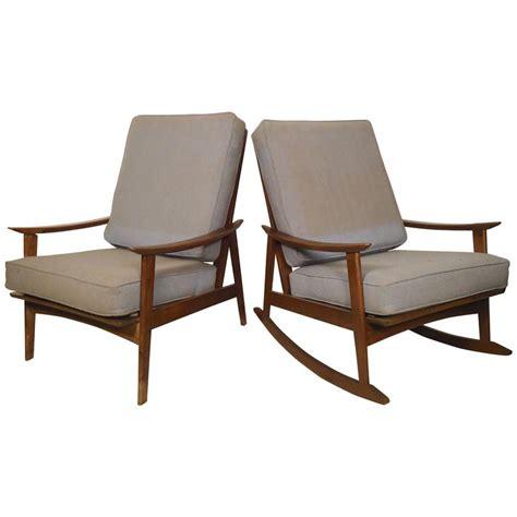 mid century modern rocking chair mid century modern rocking chair and armchair for sale at