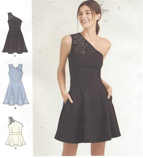 sewing pattern one shoulder dress cynthia rowley womens one shoulder knit dress or top