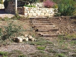Backyard Bassin R 233 Alisation D Un Escalier En Traverses De Chemin De Fer