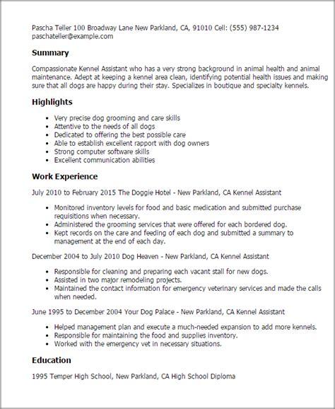 cover letter exles kennel assistant kennel assistant resume template best design tips