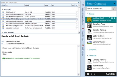 Outlook Search For Email Address Find Outlook Addresses And Email Your Frequent Contacts In